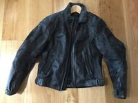Dainese mens leather bike jacket EU46 good condition zip out lining armoured elbows and shoulders