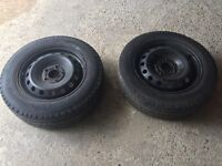 Two rim and tyres