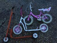 """PRobike angel girls bike 14"""" wheels new brake cable magna pearl scooter trike 3 wheeler"""