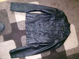 black leather fashion jacket