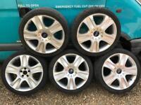 "Ford 18"" ronal genuine alloys x5 mondeo Focus"