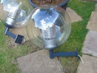 2 large lights about 24 inch round
