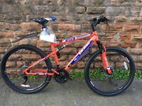 New Boss Carnage Mountain Bike Full Suspension Disc RRP £365