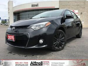 2015 Toyota Corolla S Upgrade Package. Alloy's, Moonroof, Fog Li