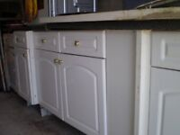 second hand white gloss kitchen units for sale