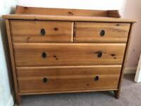 Leksvik ikea drawers wooden antique pine shabby chic project maybe