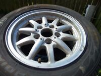 1 bmw alloy wheel and tyre