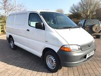 2002 Toyota Hiace 2.5 D-4D 280 GS VAN, TAIL GATE, NEW 12 MONTHS MOT, NO VAT