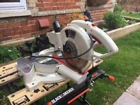 Axminster White AW-SMS 10 Mitre Saw