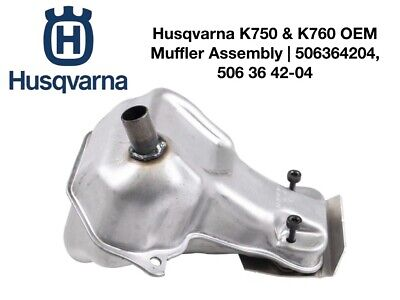 Genuine Husqvarna Oem Muffler Assembly For K750 K760 Pn 506364204 587668702