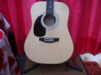 Falcon Left Handed Acoustic Guitar Full Size.