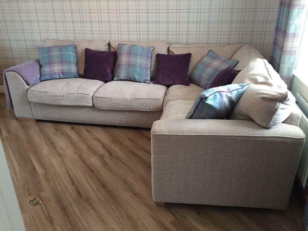 Beautiful Beige Bhs Corner Sofa 500