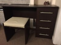 4 DRAWER DRESSING TABLE AND STOOL