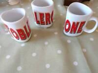 Toblerone mugs vintage