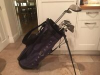 Golf clubs-Ping Driver-3 Wood-Ping Irons-Putter, Nike Golf Bag, glove, balls tees