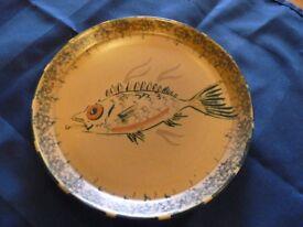 HAMILTON POTTERY Fish design plates