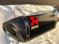 KTM 1290 Superduke Akrapovic Evo Carbon End Can Exhaust 65mm Inlet