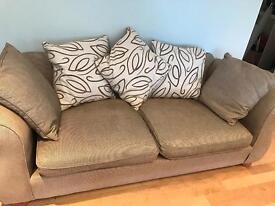 3 piece Biege/Brown Sofa