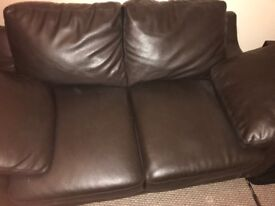 2x 2 seater leather sofas