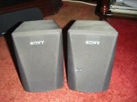 sony speakers, mini approx 12 / 14 inch x approx 8""