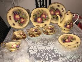 Aynsley Orchard Fruits, Hand painted- signed by N.Brunt