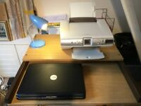 Dell Laptop, Lexmark Printer & PC Desk