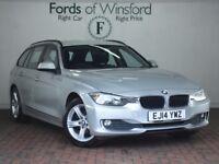 BMW 3 SERIES 316i Se 5dr [Parking Sensors Front & Rear, Bluetooth (silver) 2014