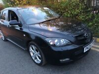 MAZDA 3 1.6 SPORT 2009 BLACK MINT 1 FORMER OWNER NEW MOT MINT 2 KEYS FULL HIS...