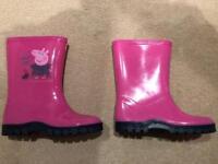Brand new pink Peppa Pig Wellies