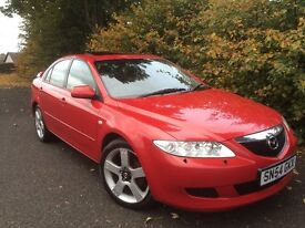 ****MAZDA 6 ZUGARA , MOT MAY 2017 , BRIGHT RED WITH LEATHER , VERY TIDY CAR****