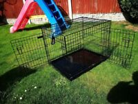 Dog Puppy cage with twin doors good condition