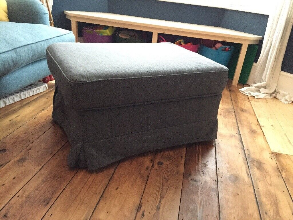 Brilliant Ikea Ektorp Ottoman Footstool With Storage Dark Grey In Exeter Devon Gumtree Ibusinesslaw Wood Chair Design Ideas Ibusinesslaworg
