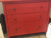 IKEA HEMNES Chest of 3 drawers - RED