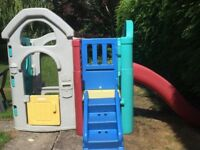 PLAY HOUSE AND SLIDE OUTDOOR FOR TODDLERS