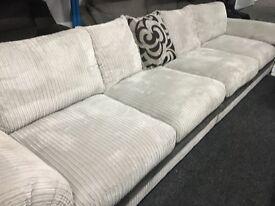 New/Ex Display Dfs Light Grey XL Large Large 5/6 Seater Sofa