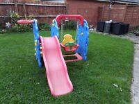 Homcom Kids Garden Playground 3in1 with Swing, Slide and Basketball Hoop Multi functional