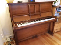 Upright piano in good working order - free to good home