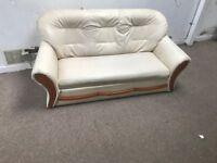2 seater sofa cream vgc £25 can deliver