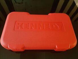 "KENNEDY METRIC SOCKET SET 25PC 1/2"" SQ DR BRAND NEW."