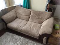 Beige 2 seater DFS sofa bed, great condition