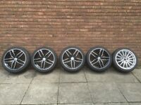 "Alloy wheels black 18"" with two sets of tyres"