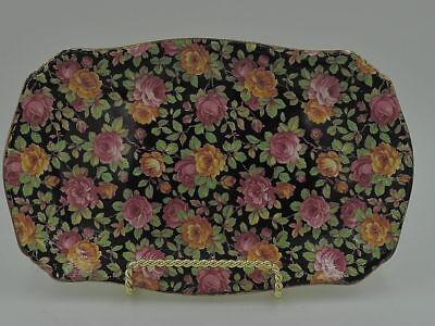Vintage Royal Winton Chintz Beeston Platter Plate Dish Pink Roses