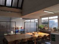 New studio available mid-September. 1000sqft with full glazing across whole office. E8 3SB