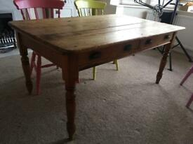 Very old antique dining table