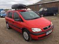2004 VAUXHALL ZAFIRA 7 SEATER MPV ROOF STORAGE BOX NICE CKEAN CAR IN AND OUT LONG MOT GOOD DRIVER