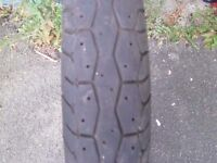4.00 x 18 used rear motorcycle tyre