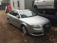 Audi A4 2.0 TDI S line 4dr silver (ly7w) (04 - 07) breaking for parts