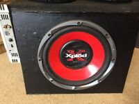 Mosfet amp, Sony Xplod 900w Subwoofer and Kenwood shelf speakers, Good working order