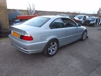 2002 BMW 318ci N42b20 Coupe 2 door E46 BREAKING FOR SPARES PARTS Silver