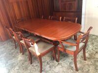 Vintage Teak McIntosh of Kirkcaldy Teak Extendable Dining Table, 8 Chairs and Display Unit